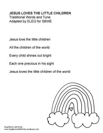 Jesus Loves the Little Children for SBWE no chords