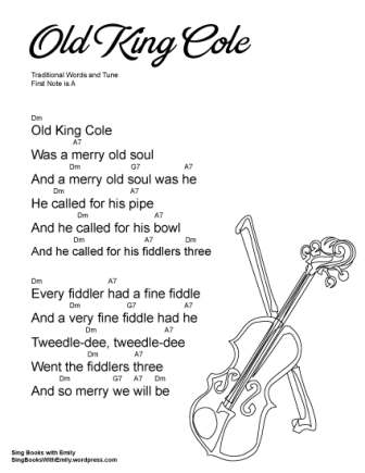 Old King Cole, an Illustrated and Singable Mother Goose