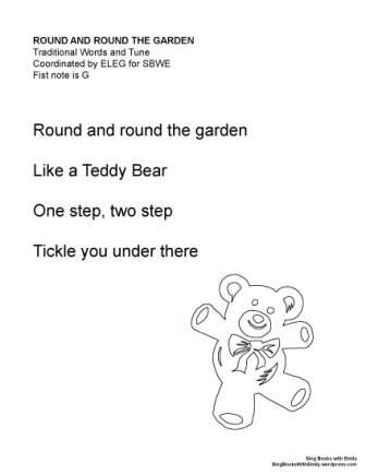 round and round the garden SBWE no chords