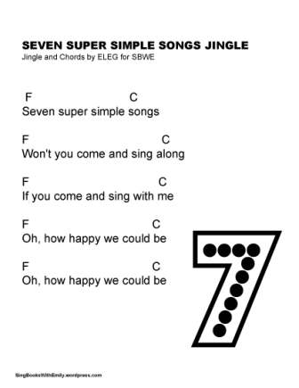 7 Super Simple Songs jingle song sheet w chords