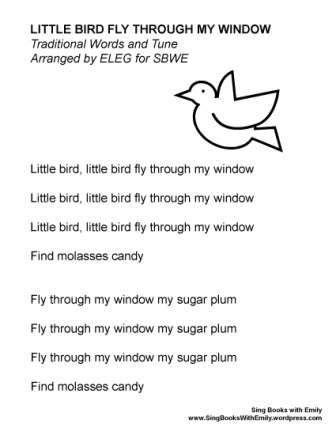 little bird fly through my window ELEG SBWE no chords