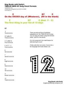 12 DAYS OF SONG CHORD FORMULA BY ELEG FOR SBWE