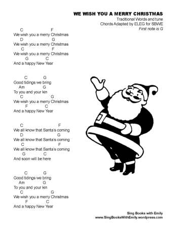 We Wish You a Merry Christmas ELEG SBWE w chords spin me a story