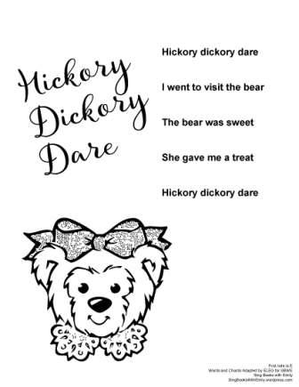 hickory dickory dare no chords SBWE