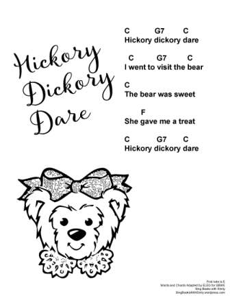 hickory dickory dare w chords SBWE