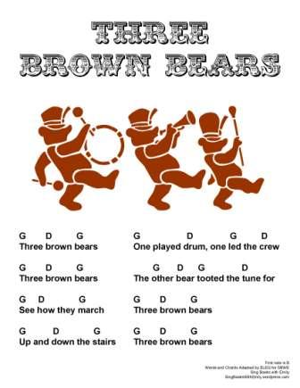 three brown bears sbwe w chords