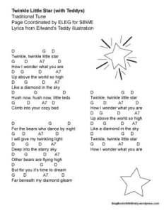 twinkle little star w chords SBWE ellwand