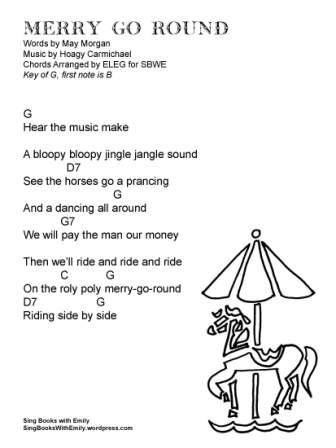 MERRY GO ROUND lyrics w chords in G