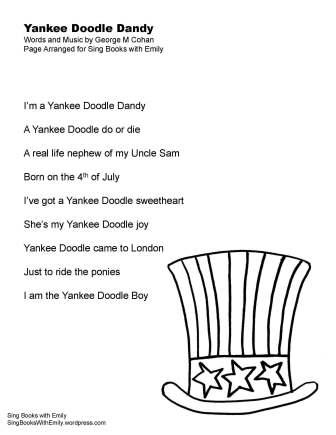 yankee doodle dandy lyrics SBWE no chords