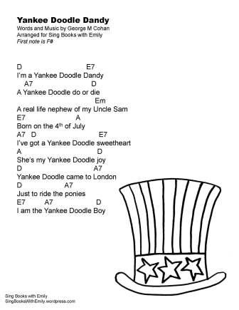yankee doodle dandy lyrics SBWE w chords