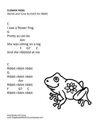 Flower Frog w chords ELEG SBWE