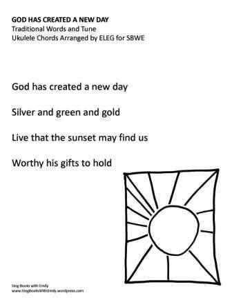 God Has Created a New Day no chords eleg sbwe