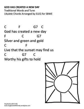 God Has Created a New Day w chords eleg sbwe