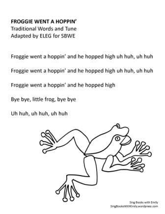 froggie went a hoppin NO chords SBWE