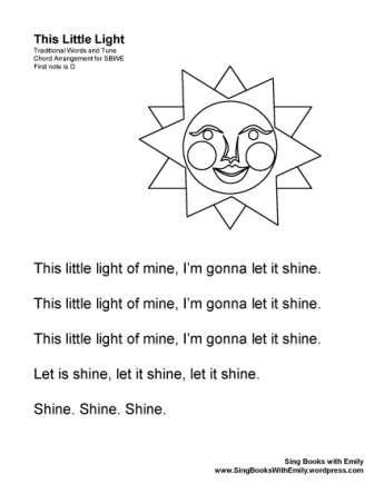 THIS LITTLE LIGHT ELEGs Sun no chords
