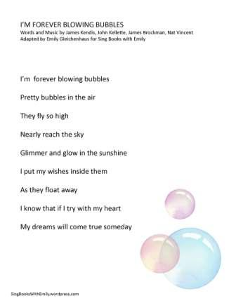 I'm Forever Blowing Bubbles ELEG SBWE no chords
