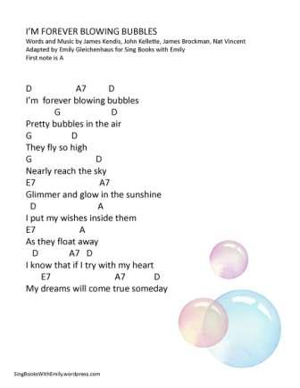 I'm Forever Blowing Bubbles ELEG SBWE w Chords D