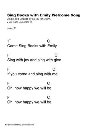 Welcome Song for SBWE