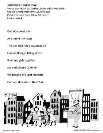 sidewalks of new york no chords for sbwe