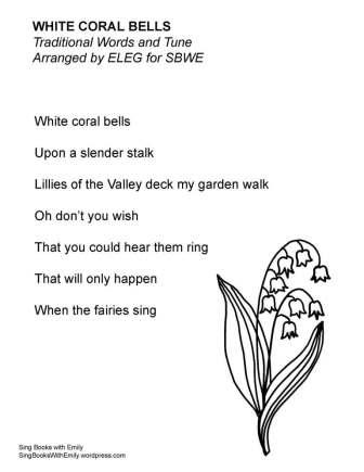 white coral bells no chords ELEG