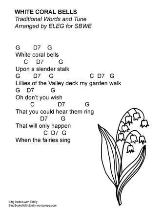 white coral bells w chords ELEG