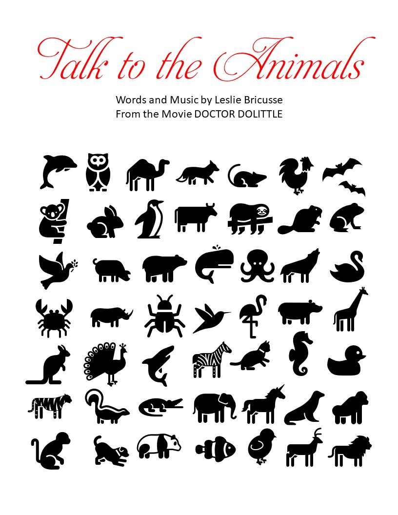 Talk to the Animals cover only